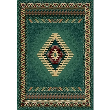 Loon Peak Hyacinthe Tucson Green Area Rug; 7'10'' x 10'6''