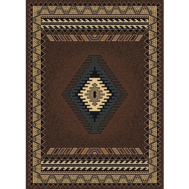 Loon Peak Hyacinthe Tucson Brown Area Rug; Runner 1'11'' x 7'4''