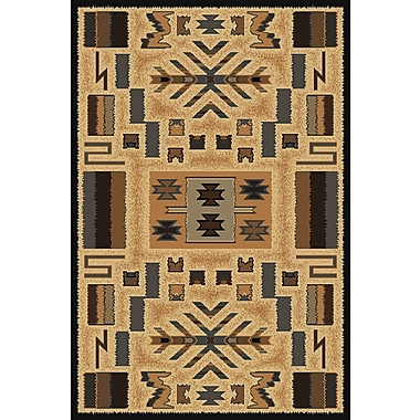 Loon Peak Hyacinthe Brown Area Rug; 5'3'' x 7'6''