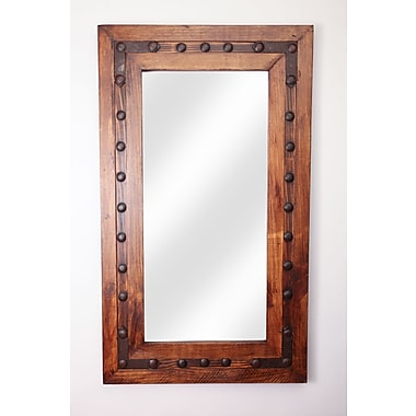 Loon Peak Rectangle Wood Accent Mirror; 36'' H x 30'' W x 2'' D