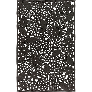 Ophelia & Co. Camille Hand Woven Black Indoor/Outdoor Area Rug; 8' x 10'