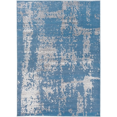 Ophelia & Co. Kavia Blue/Gray Area Rug; 2' x 3'7''