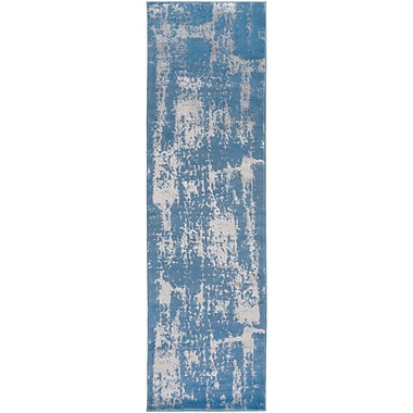 Ophelia & Co. Kavia Blue/Gray Area Rug; Runner 2'3'' x 7'10''