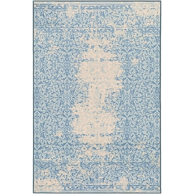 Ophelia & Co. Cassie Blue/Beige Area Rug; 1'10'' x 3'