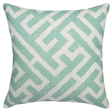 Mistana Adan Lattice Linen Throw Pillow; Navy