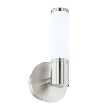 Orren Ellis Torri 1-Light LED Bath Sconce; Satin Nickel