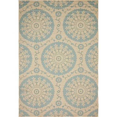 Ophelia & Co. Rundell Beige Outdoor Area Rug; 6' x 9'