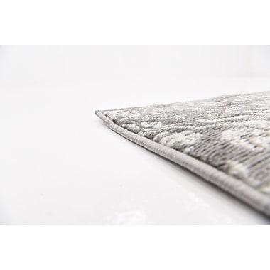Ophelia & Co. Argyle Gray Area Rug; 9' x 12'