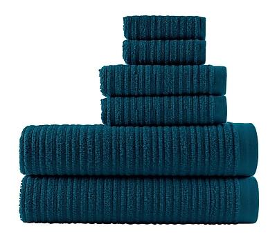 Winston Porter Blair Solid 6 Piece Towel Set; Midnight Blue