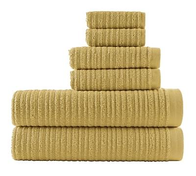 Winston Porter Blair Solid 6 Piece Towel Set; Pear Green