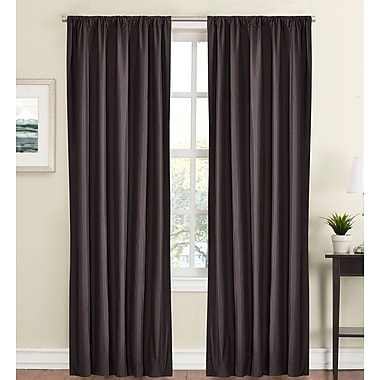 Rosdorf Park Jacques Solid Blackout Rod Pocket Curtain Panels (Set of 2); Gray