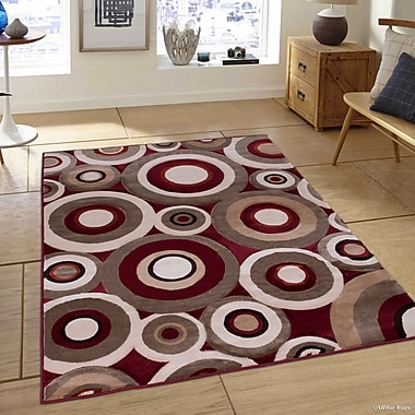 Red Barrel Studio All Saints Red Area Rug; 6' x 6'