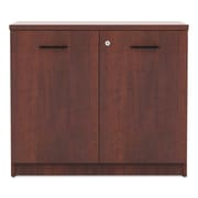 Red Barrel Studio Belle 2 Door Credenza; Medium Cherry