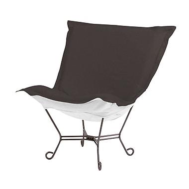 Red Barrel Studio Claribel Puff Chair; Seascape Charcoal
