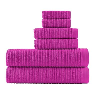 Winston Porter Blair Solid 6 Piece Towel Set; Fuchsia