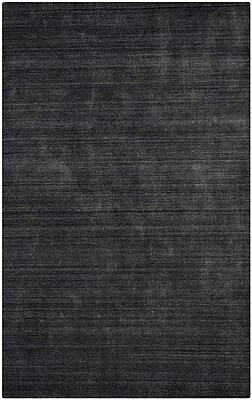 17 Stories Leontine Hand-Loomed Charcoal Area Rug; 6' x 9'