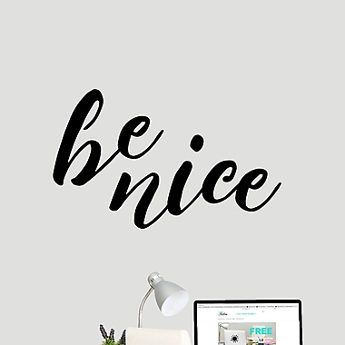SweetumsWallDecals Be Nice Wall Decal; Black