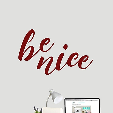SweetumsWallDecals Be Nice Wall Decal; Cranberry
