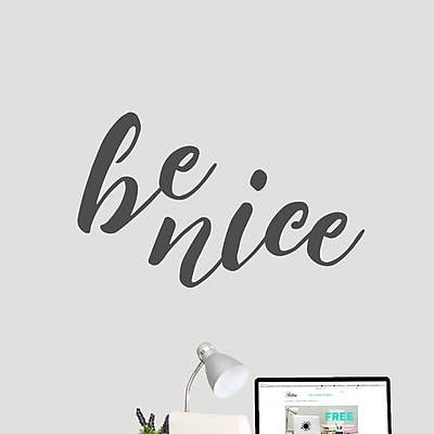 SweetumsWallDecals Be Nice Wall Decal; DarkGray