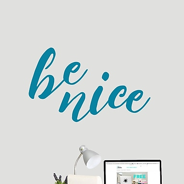 SweetumsWallDecals Be Nice Wall Decal; Teal