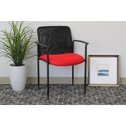 Symple Stuff Guest Chair; Red