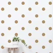 SimpleShapes Textured Dots Wall Decal (Set of 105); Gold