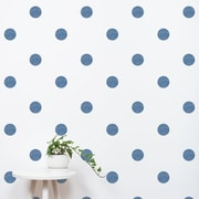 SimpleShapes Textured Dots Wall Decal (Set of 105); Navy