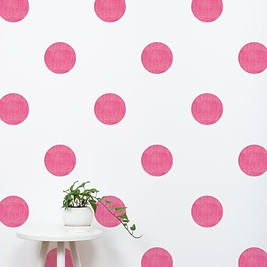 SimpleShapes Textured Dots Wall Decal (Set of 32); Hot Pink