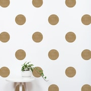 SimpleShapes Textured Dots Wall Decal (Set of 32); Gold