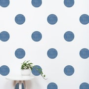 SimpleShapes Textured Dots Wall Decal (Set of 32); Navy