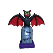 The Holiday Aisle Halloween Inflatable Bat on Tombstone