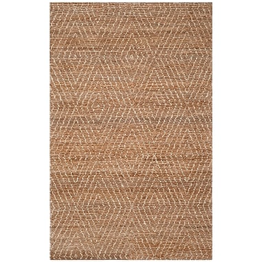 Union Rustic Pace Hand-Woven Natural/Ivory Area Rug; Rectangle 5' x 8'