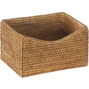 World Menagerie Blanchard Handwoven Rattan Organizing Basket; Honey Brown