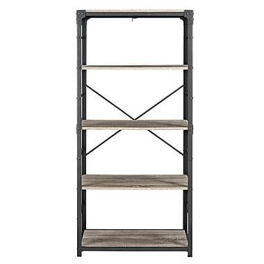 Williston Forge Cortney Iron 64'' Standard Bookcase; Driftwood