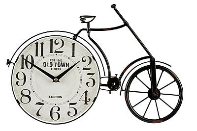Williston Forge Bicycle Metal Wall Clock