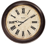 World Menagerie 20'' Brown Round Marbled Case Roman Numeral Wall Clock