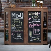 Red Barrel Studio Carolyn Transitional Bar w/ Wine Storage