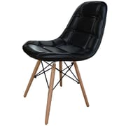 New Pacific Direct Neo Side Chair in Black/PU (Set of 2)