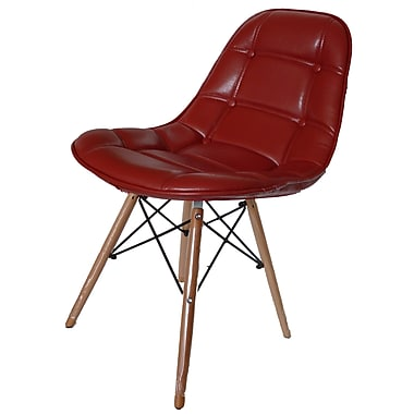 New Pacific Direct Neo Side Chair in Red/PU (Set of 2)