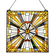 Astoria Grand Stained Glass Pharaoh's Jeweled Window Panel