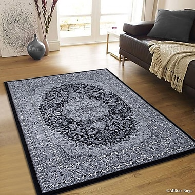 Astoria Grand Arison Charcoal Area Rug; 6'7'' x 9'3''