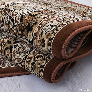 Astoria Grand Arison All-Over Royal Patterned Brown Area Rug; 6'7'' x 9'3''