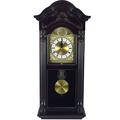 Astoria Grand Traditional Mahogany Cherry Oak Wall Clock