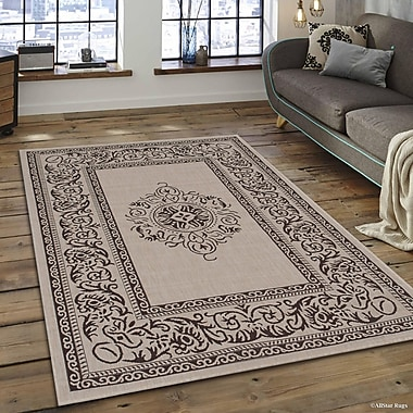 Charlton Home Bellwood All Weather Beige Indoor/Outdoor Area Rug; 7'10'' x 10'2''