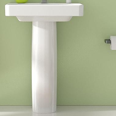 Bissonnet Smyle 24'' Ceramic Pedestal Bathroom Sink w/ Overflow