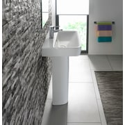 Bissonnet Comprimo 22'' Pedestal Bathroom Sink w/ Overflow