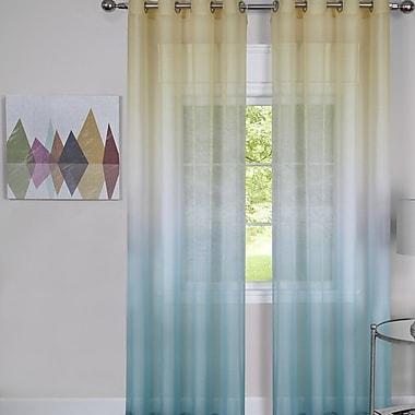 Ebern Designs Alanna Traditional Elegance Abstract Semi-Sheer Grommet Single Curtain Panel