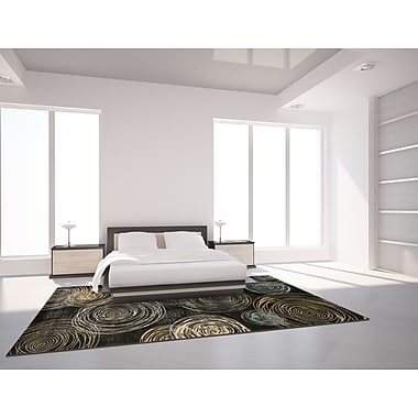 Ebern Designs Archbald Constellation Black/Beige Area Rug; 7'10'' x 9'10''