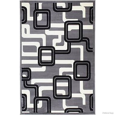 Ebern Designs Barnes Gray Area Rug; 5'2'' x 7'1''