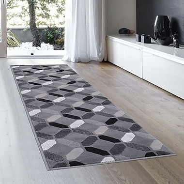 Ebern Designs Rowe Shadow Area Rug; 2'3'' x 6'11''